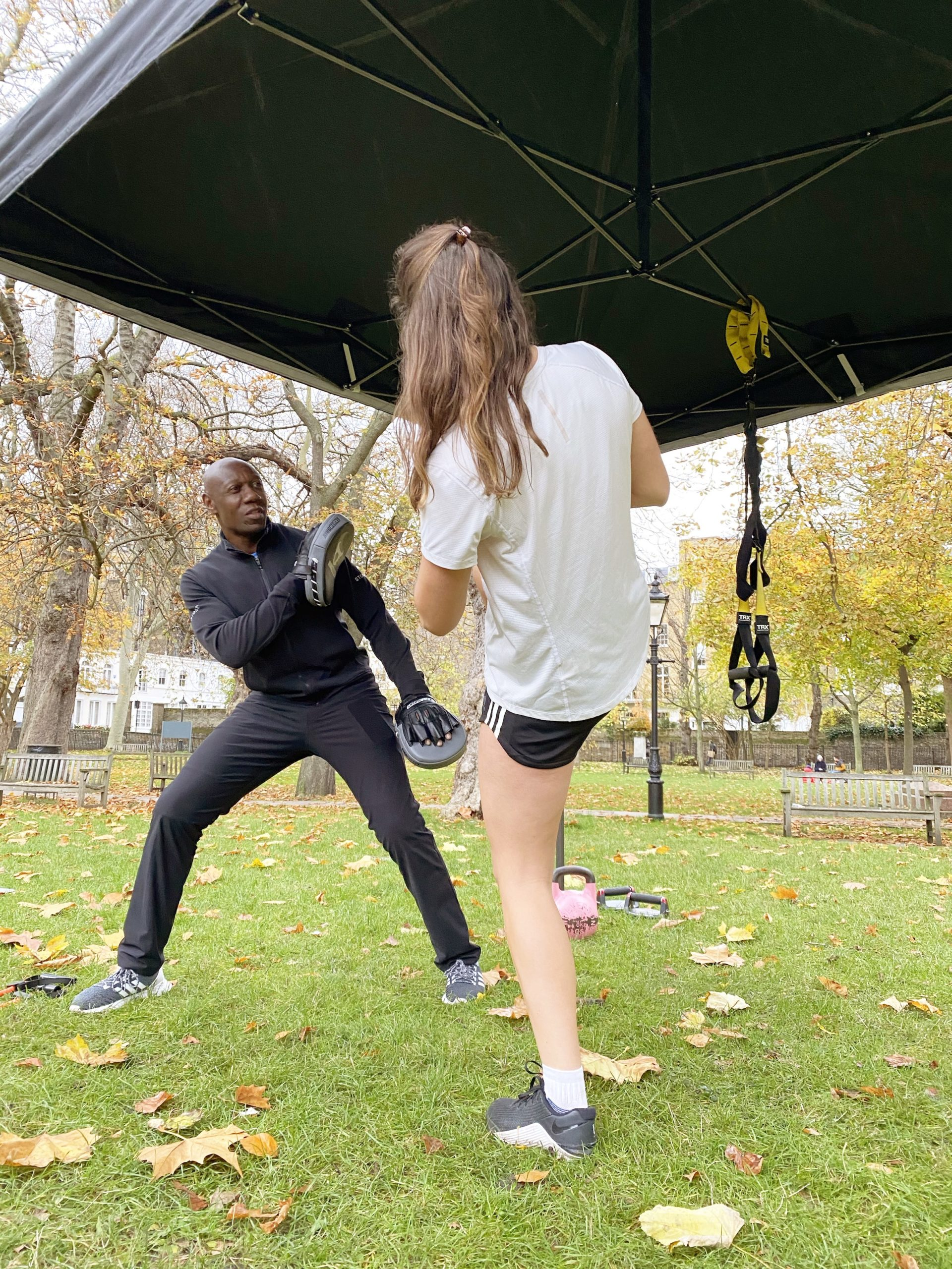 Pad training in the park
